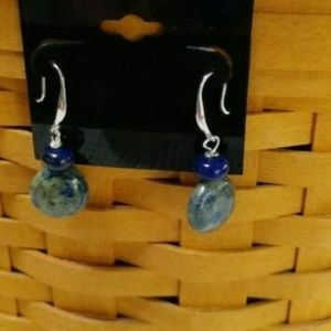 Sundance J.S.Jill Lapis SS Dangle Earrings O493